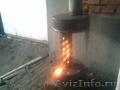 Печь работающая на отработанном масле 2лчас площадь50мкв