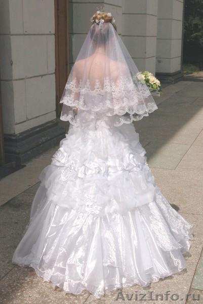 Продам свадебное платье и перчатки б/у - Изображение #2, Объявление #664804