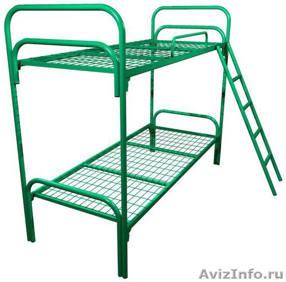 кровати металлические, кровати двухъярусные для рабочих, кровати одноярусные опт, Объявление #695633