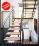 Лестница из ясеня на металлокосоуре -20%