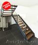 Лестница из ясеня на металлокаркасе -20%