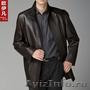 Продам новое мужское кожаное пальто черный весна-осень Швеция 54/180, Объявление #1592473